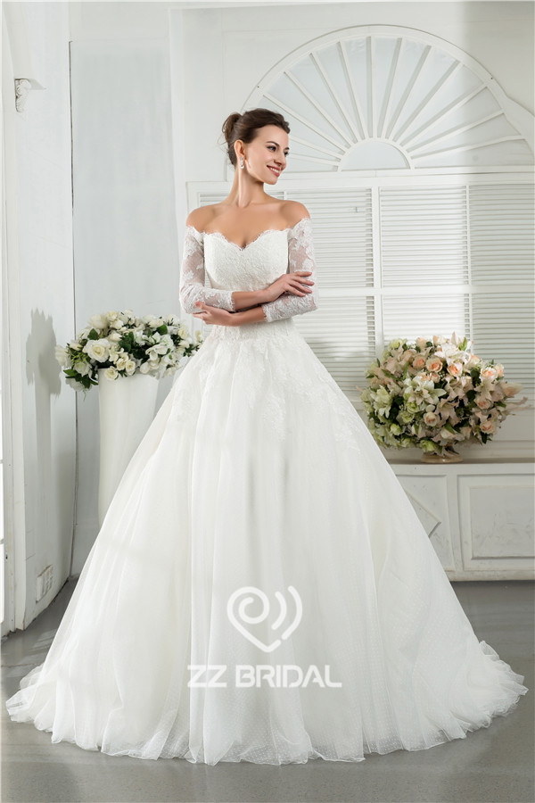 Koronkowa Suknia ślubna Długi Rękaw Suknia ślubna Suknia ślubna