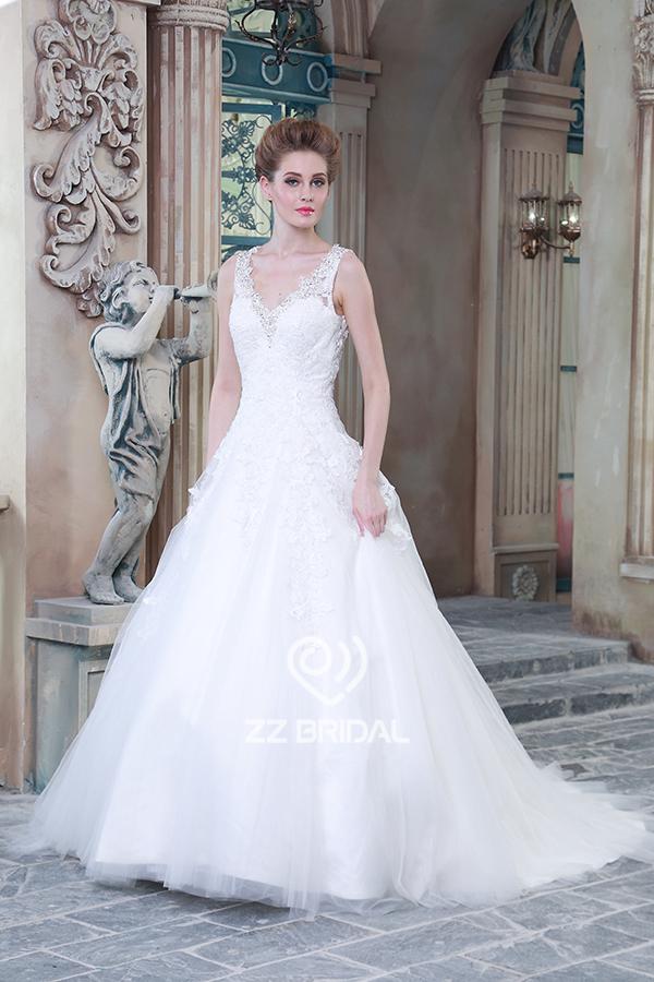 Vestido de novia, vestido de boda backless, vestido de novia