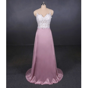 New design formal dress beaded wedding dress manufacturer A Line 2 in 1 Bridal Gowns