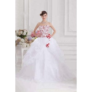 New design white ruffle embroidery sequins vestidos de 15 Quinceanera Dress ball gown