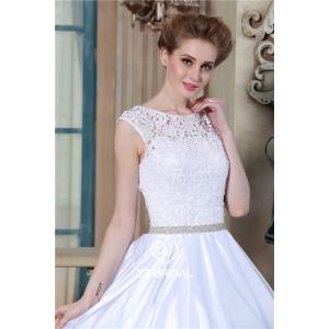 white wedding dress,wedding dress with petticoat, guipure lace ...
