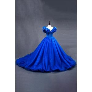 Stunning OEM Service plus size Royal Blue Prom Dresses