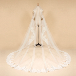 ZZ Bridal lace edge bridal wedding veil 2017 new design with comb
