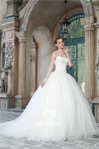 China Ball gown dress sweetheart neckline tulle princess wedding gown manufacturer factory