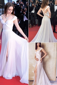 China Floor Length Ivory Ladies Maxi Dress Bandage Gown Women Elegant Sequin dress factory