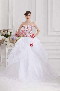 China New design white ruffle embroidery sequins vestidos de 15 Quinceanera Dress ball gown factory