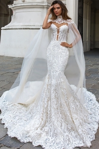 China Sexy Back See Through Mermaid Wedding Dresses For Brides factory