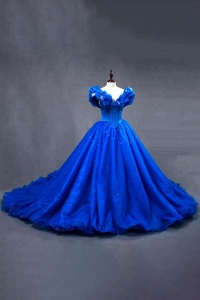 China Stunning OEM Service plus size Royal Blue Prom Dresses factory