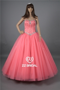 China Top quality beaded sweetheart neckline ball gown quinceanera dress supplier factory