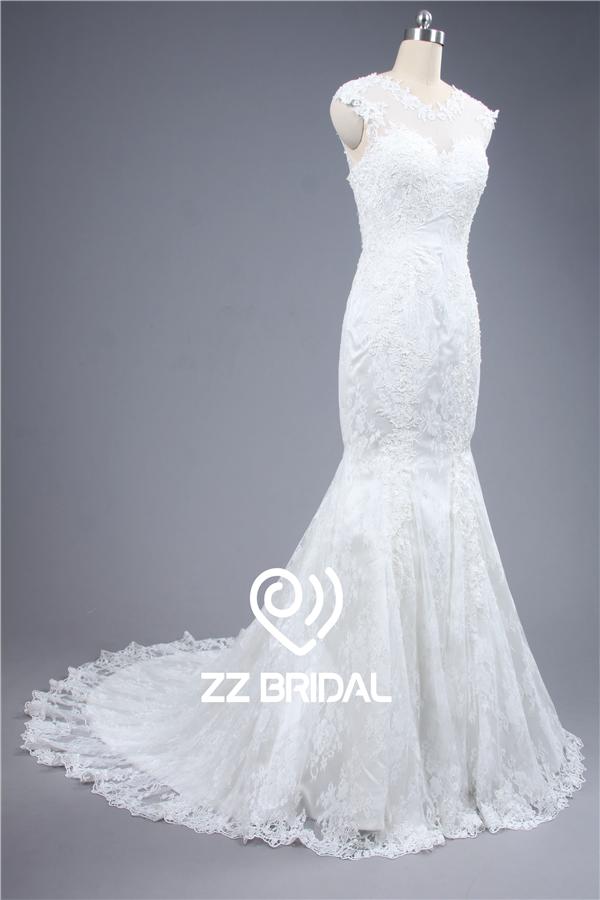 Summer bridal dress cap sleeve bridal dress lace bridal dress for Wedding dresses cap sleeves lace