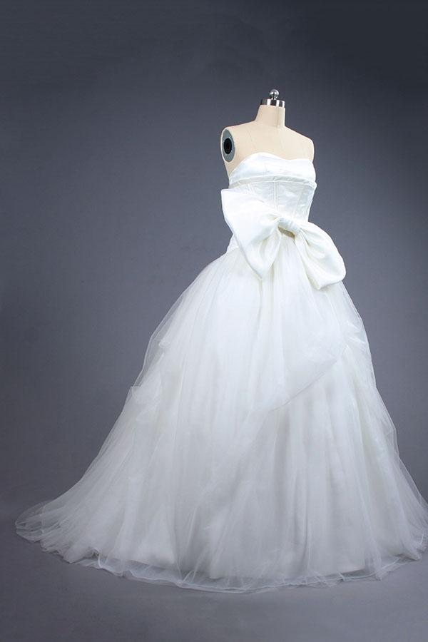 Vestido de novia con bowknot partido Vestido de novia, vestido de ...