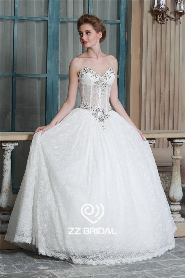 Princess wedding dresses manufacturers : Beaded wedding gown princess sweetheart
