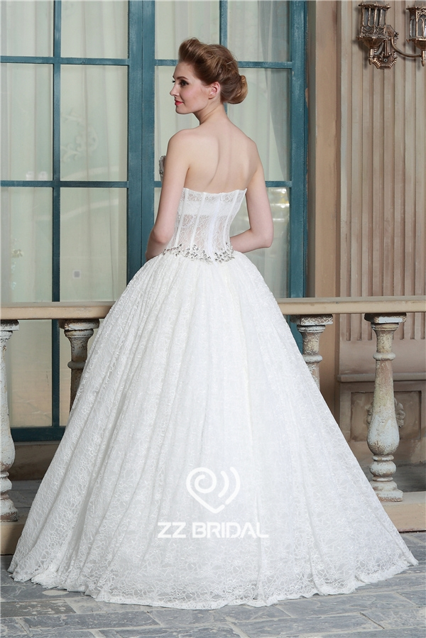 ... China Beaded See Through Corset Sweetheart Neckline Princess Wedding  Gown Manufacturer ...