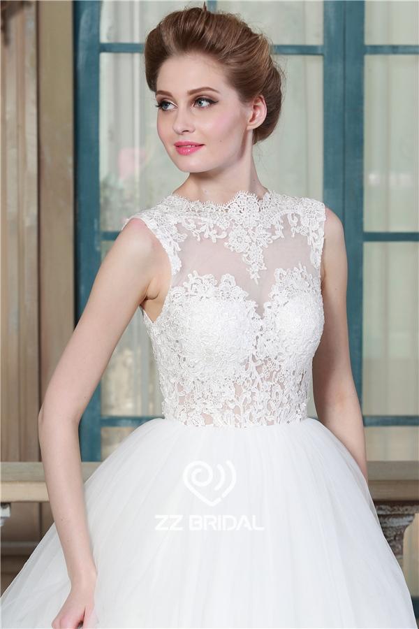 Prinzessin Brautkleid, ärmelloses Brautkleid, Brautkleid Täuschung