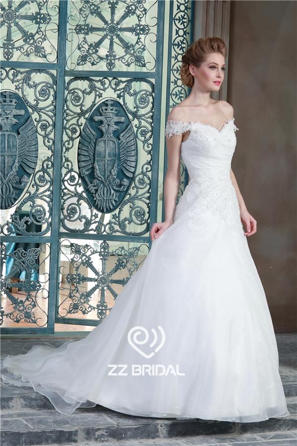 a-line wedding dress, sweetheart neckline wedding dress, off ...