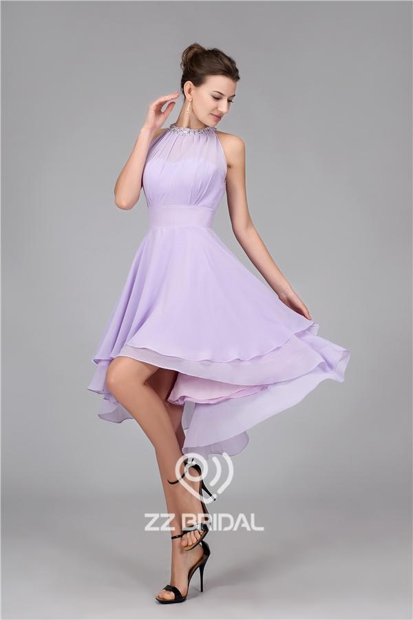Chiffon Abendkleid, Perlen Abendkleid, Abend Kleid