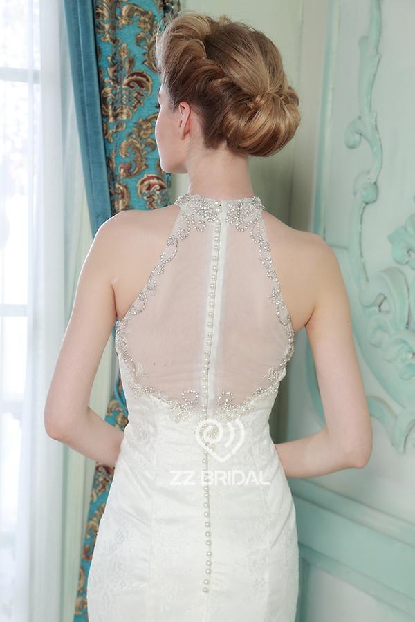 kanten jurk kralen wit