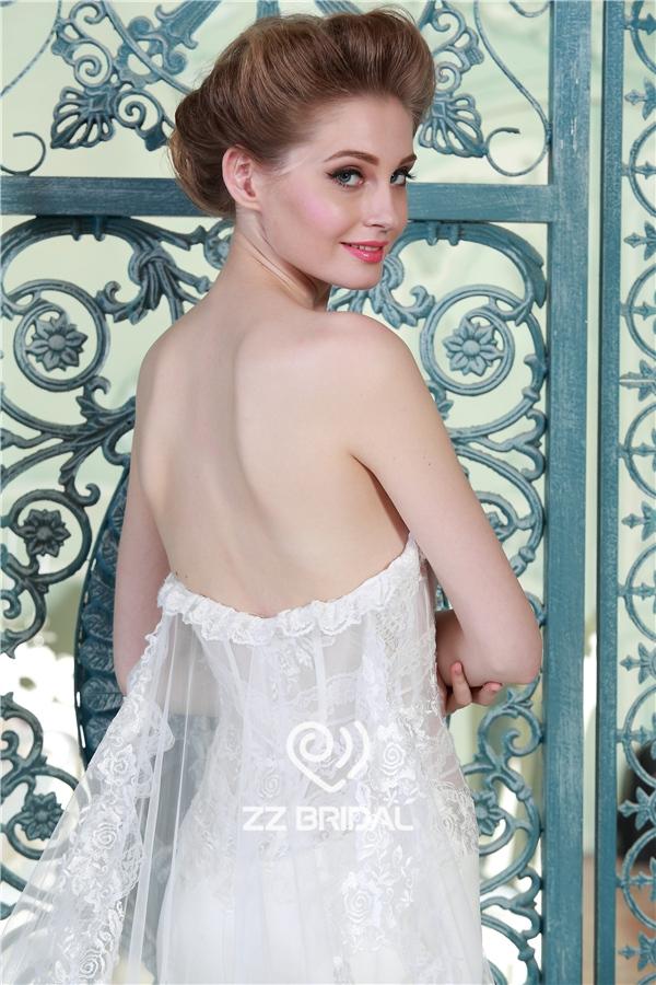 sirena satinado vestido de novia, ver a través de vestido de novia ...