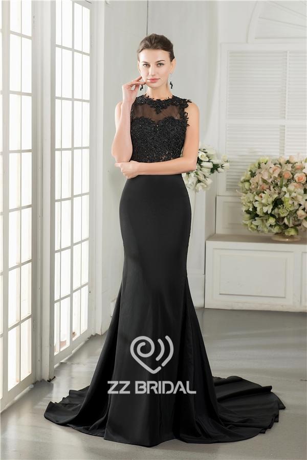 Sirena Vestido de noche, sin mangas vestido de noche, vestido de ...