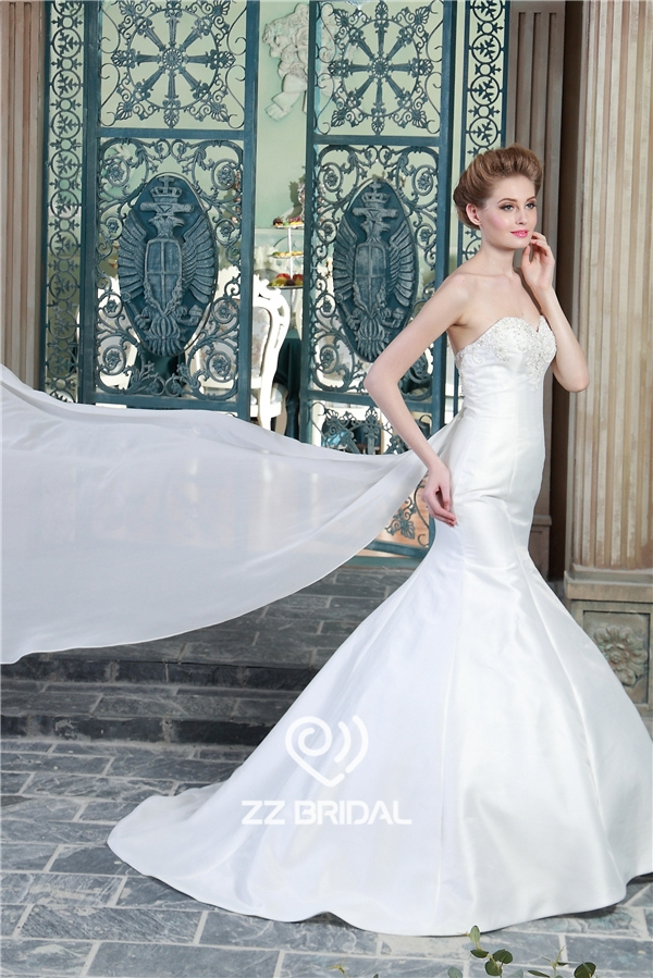 Sequined bridal dress backless bridal dress beaded for Backless mermaid style wedding dresses