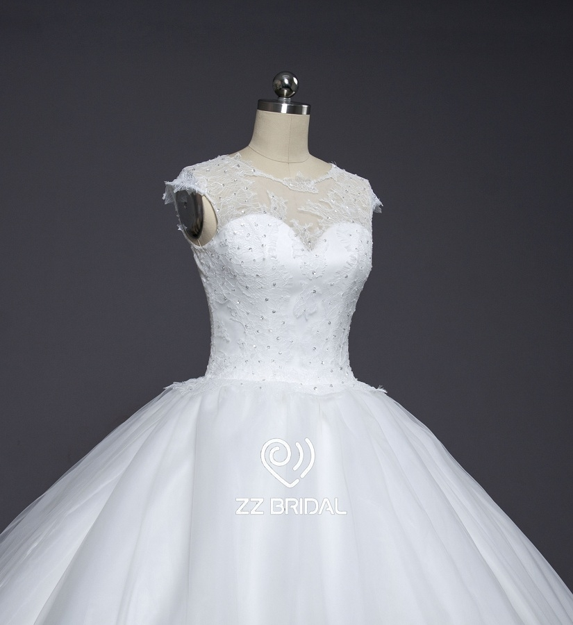 Wedding dress wedding gown bridal dress for Wedding dresses cap sleeves lace