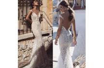 f57a5e5ff 2019 novo design Noivas Vestidos Ver Através Sexy vestido de noiva Com Cauda  Curta